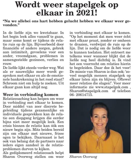 Regionale krant Het Klaverblad, 6 januari 2021